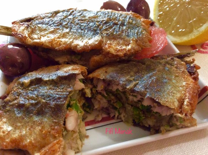 Sardines farcies à l'oignon et au persil