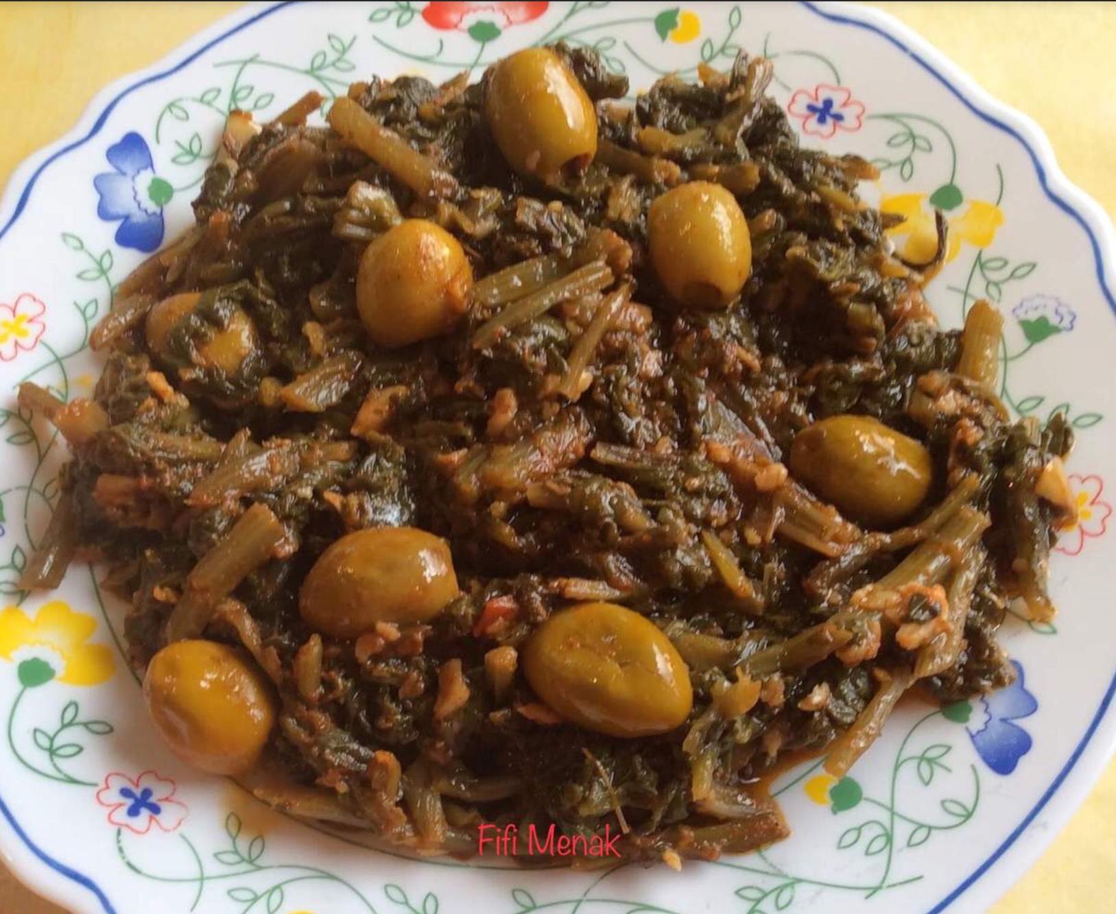 Épinards aux olives