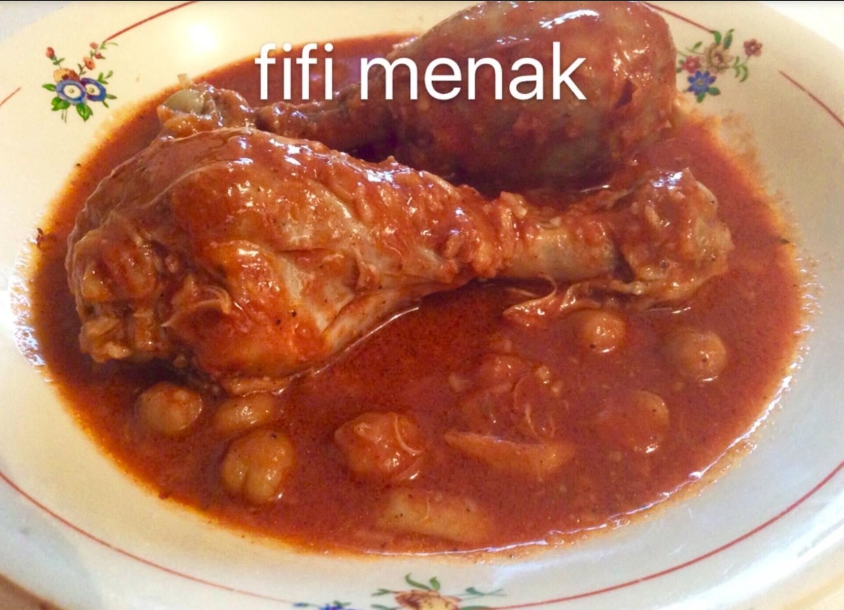 Poulet en sauce à l'ail (Chtitha djadj)