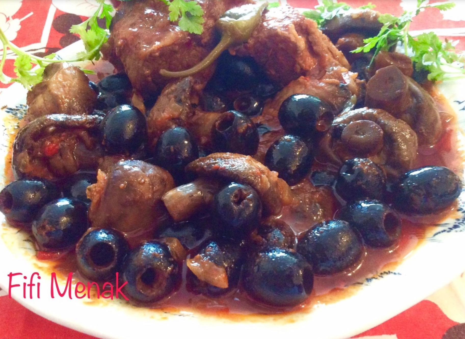 Tadjine aux olives noires