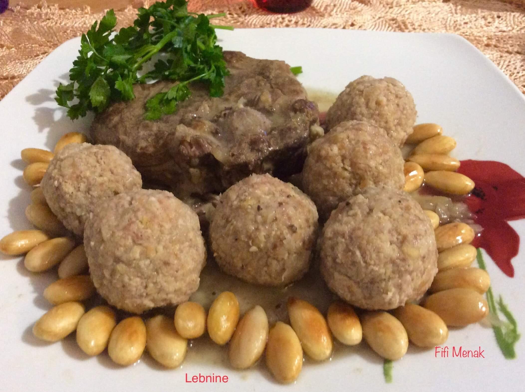 Lebnine-Boulettes de viande aux amandes