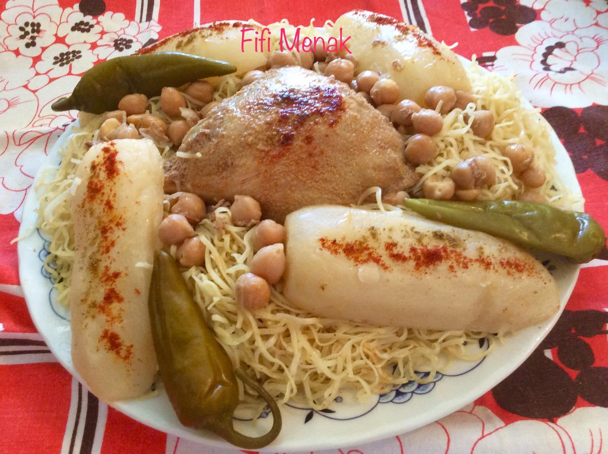 Panse farcie en sauce pour pâtes fines algériennes faites*maison*.