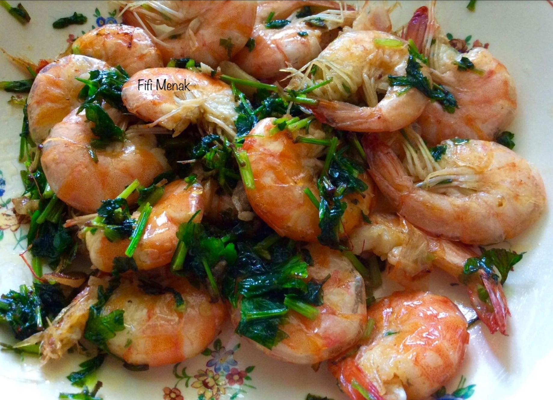 Crevettes à l' ail et au persil