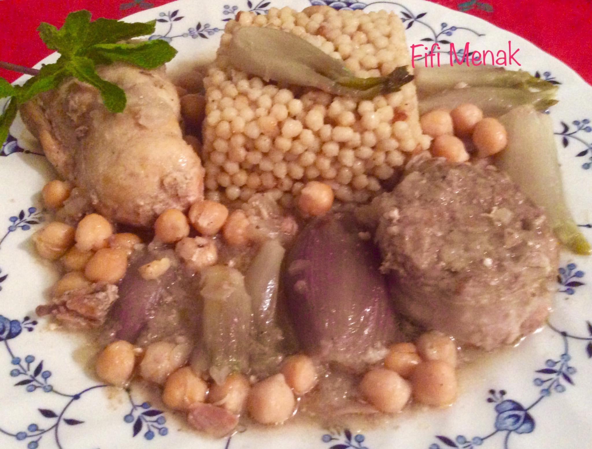 Petits plombs aux oignons (Al Moghrabiyé)