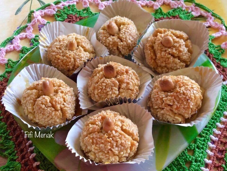 Boulettes aux amandes et graines de sésame (Mchewek moderne)