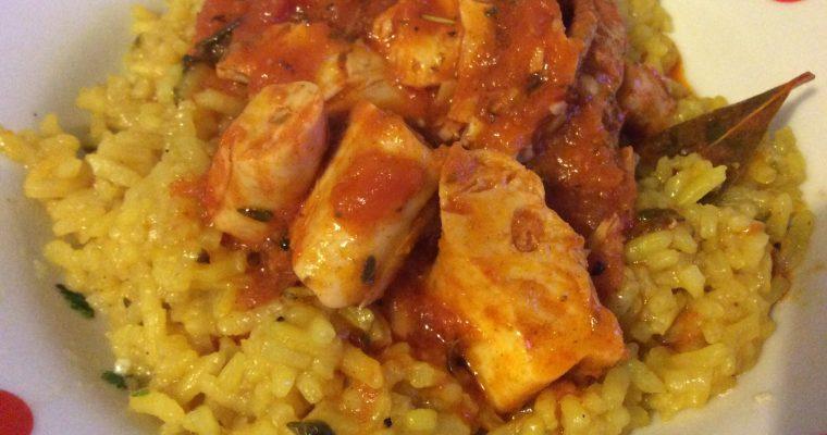 Cabillaud en sauce pour pâtes et riz
