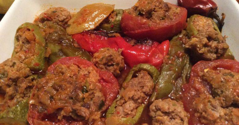 Légumes frits et farcis (dolma khodra)