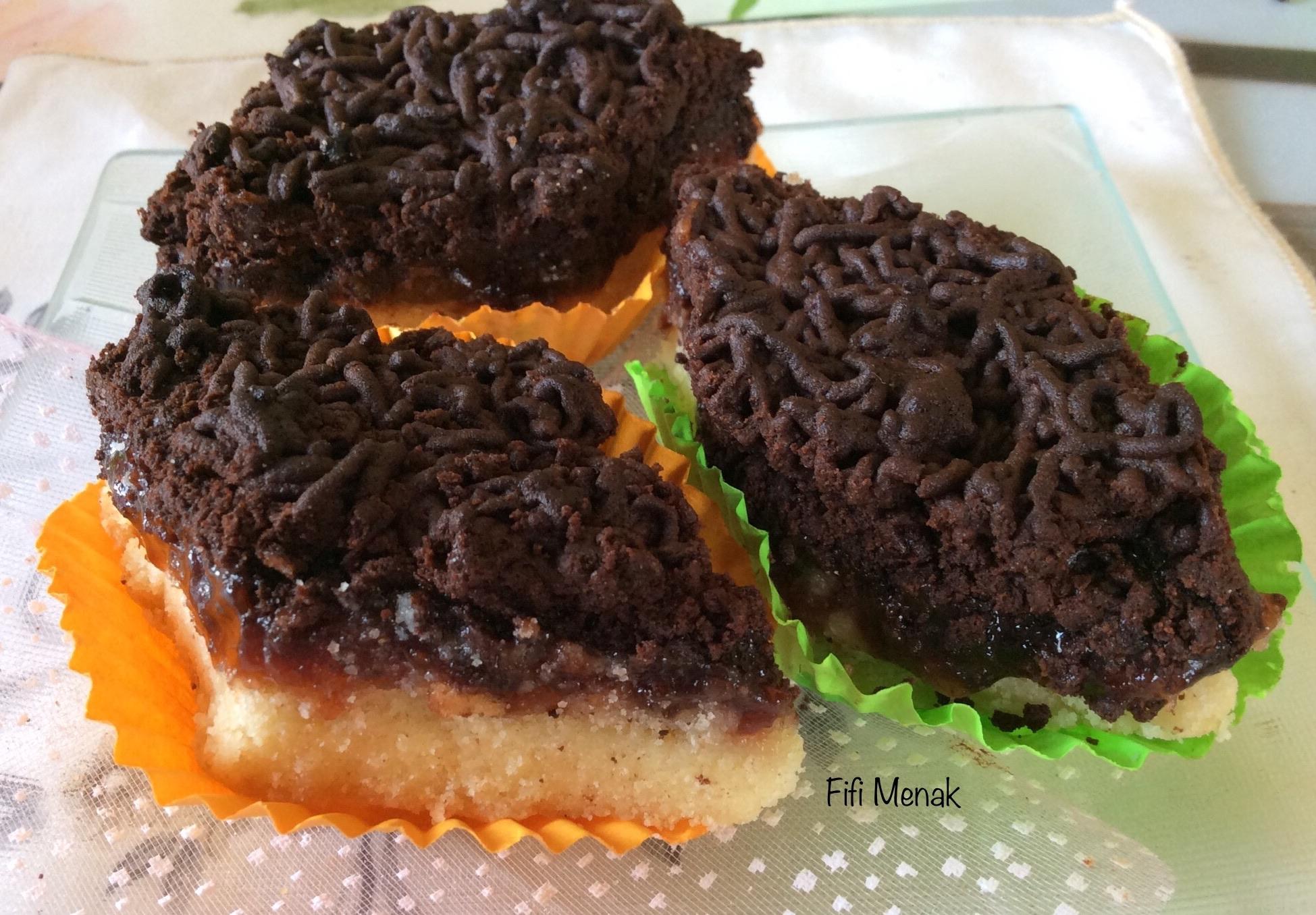 Mon gâteau sec confiture-chocolat.