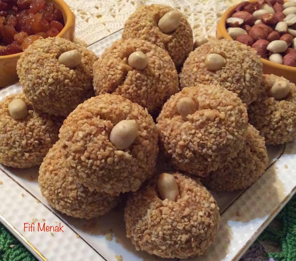 Gâteaux aux cacahuètes et raisins secs