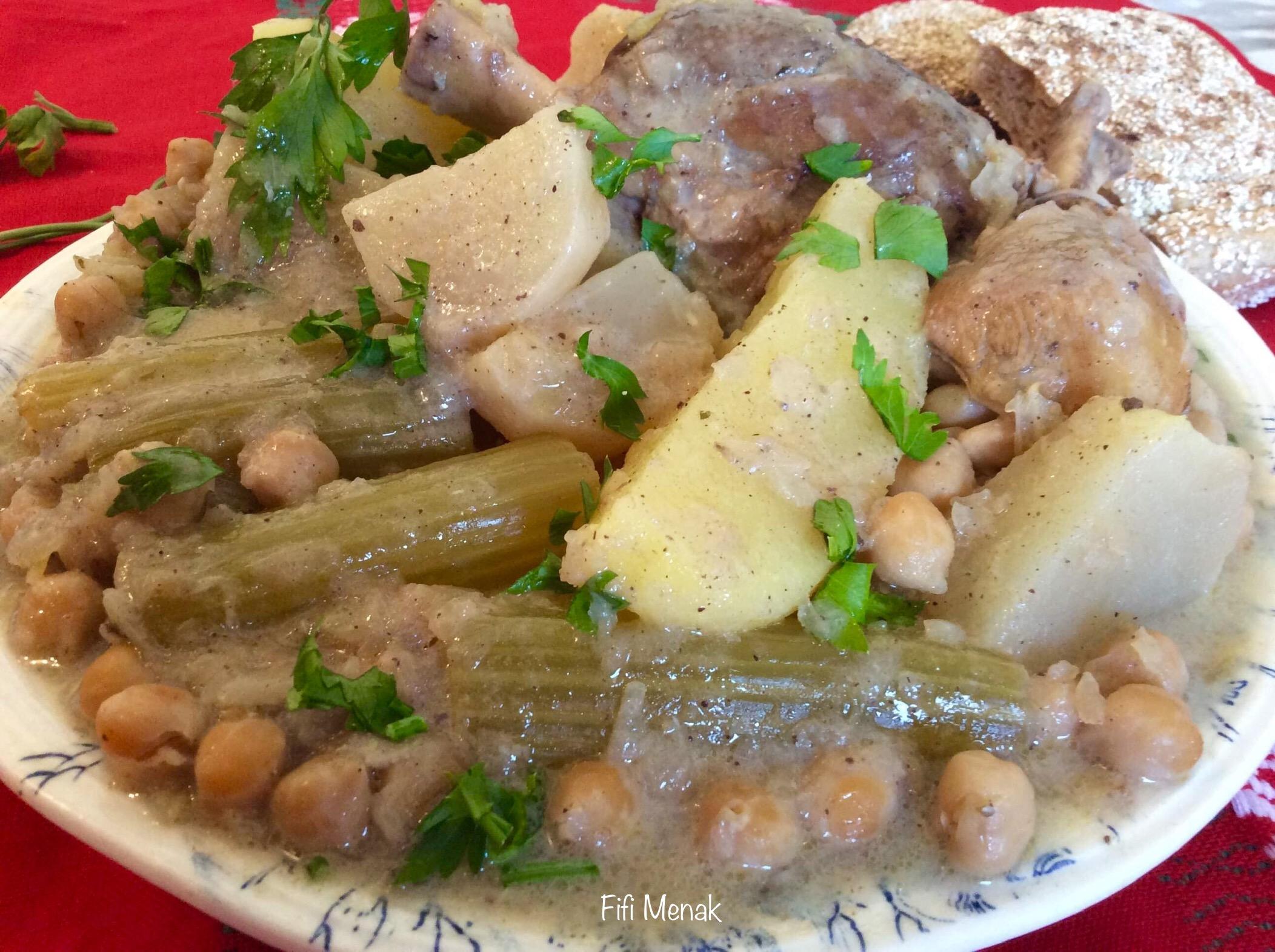 Légumes en sauce blanche (djwaz biad)