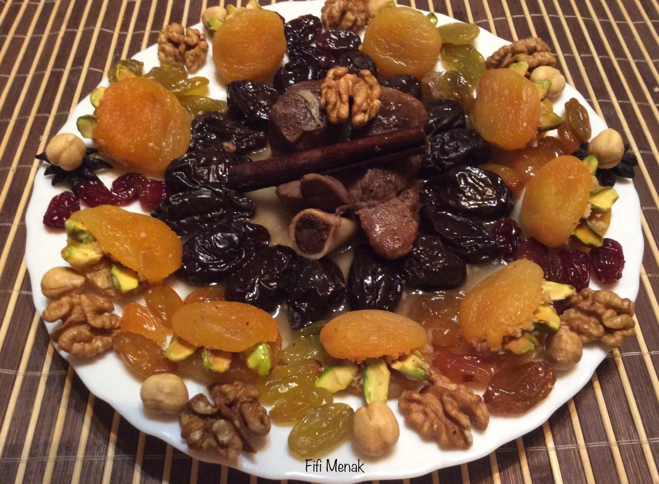 Viande sucrée aux pruneaux et fruits secs (L'ham lahlou)