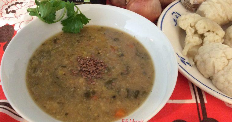 Ma soupe antivirale aux fanes de chou-fleur