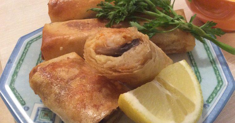 Bourek aux crevettes cuisson au four