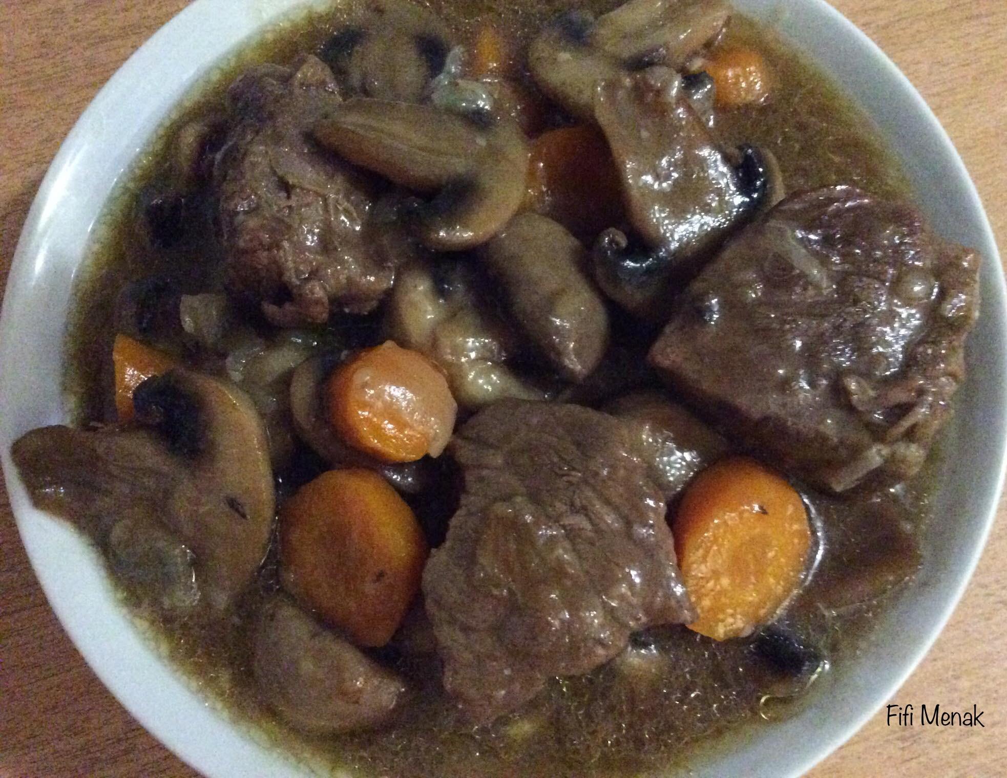 Ma sauce aux bœuf et champignons frais
